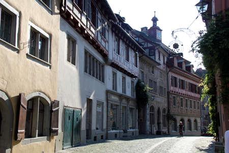 Streets of Stein am Rhein with Frescos in Switzerland