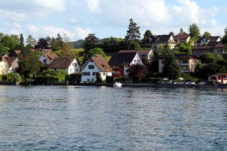 Panorama of Stein am Rhein and the Rhine River