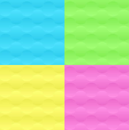 3D Trendy Neon Geometric Seamless Pattern Set