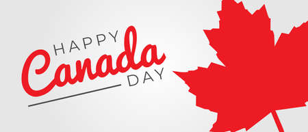 Happy Canada Day Illustration Background Banner