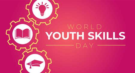 World Youth Skills Day Illustration
