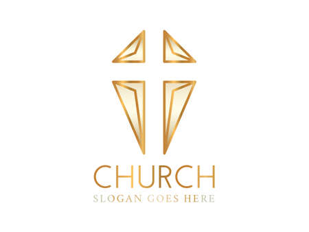 Christian Church Logo with Abstract Cross