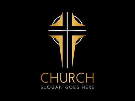 Christian Church Logo with Cross