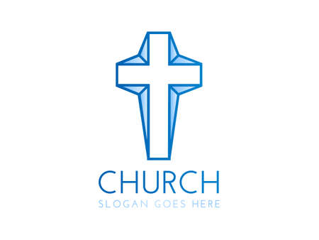 Modern Church Logo with Cross