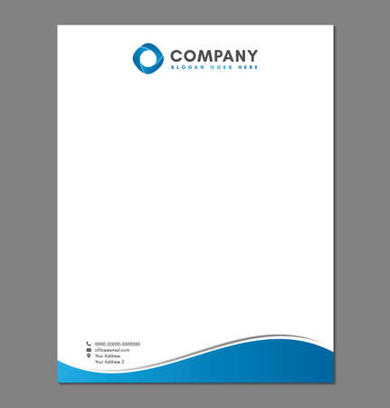 Blank Letterhead Template for Print 写真素材 - 150854837