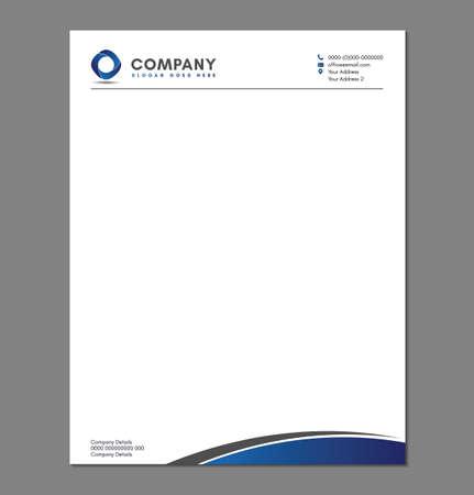 Blank Letterhead Template for Print with Logo Illusztráció