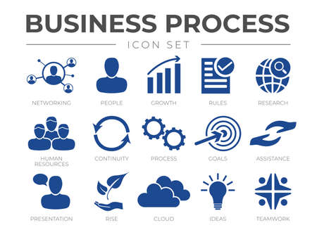 Business Process Marketing Icon Set for Company