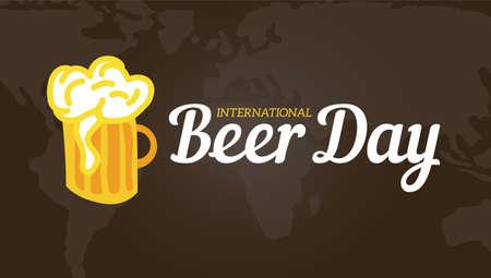 International Beer Day Illustration Background