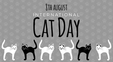 International Cat Day Background Illustration