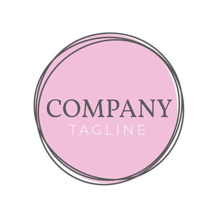 Circle Feminine Logo Design Template