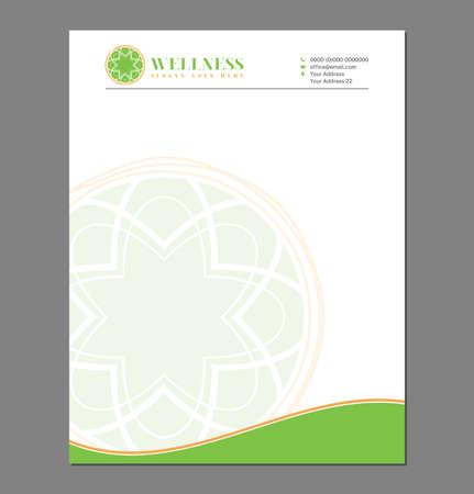Feminine Green Letterhead Template for Print with Logo