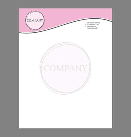 Feminine Letterhead Template for Print with Logo