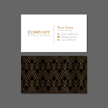 Gold Black Company Business Card Design