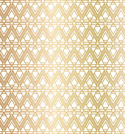Art Deco Geometric Light Gold Pattern Design