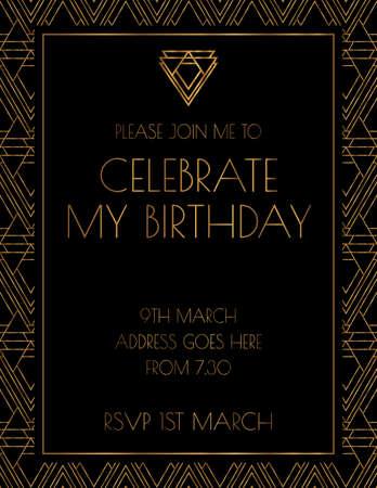 Art Deco Elegant 1920s Invitation Design