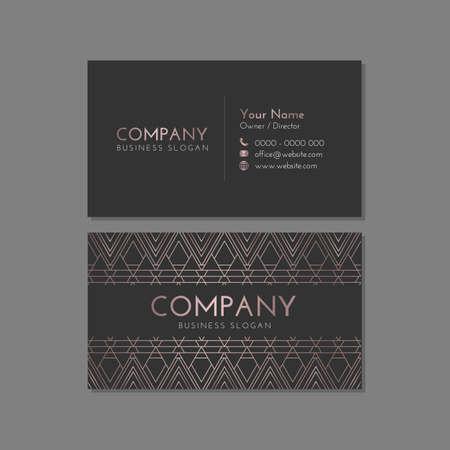 Dark Luxury Company Business Card Template Illusztráció