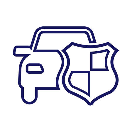 Car or Auto Insurance Outline Icon