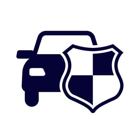 Car or Auto Insurance Icon Isolated Illusztráció