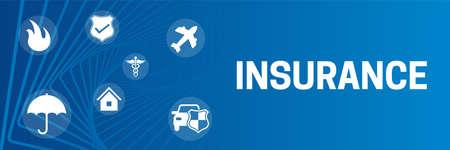 Insurance Banner Background Illustration