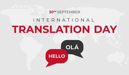 International Translation Day Background Illustration