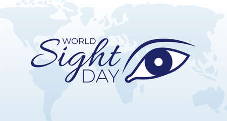World Sight Day Background Banner Illustration