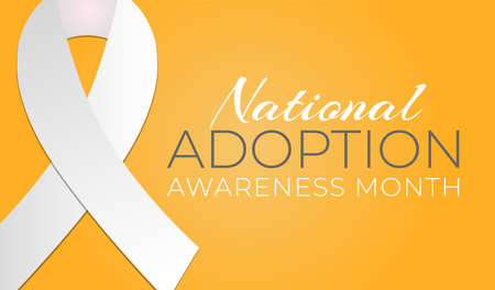 National Adoption Awareness Month Background Illustration