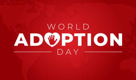 World Adoption Day Background Illustration 向量圖像