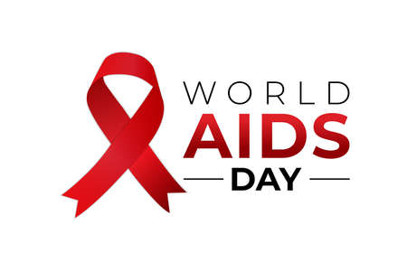 World AIDS Day Awareness Month Isolated Logo Icon