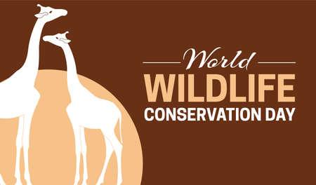 World Wildlife Conservation Day  Game Reserve Illustration