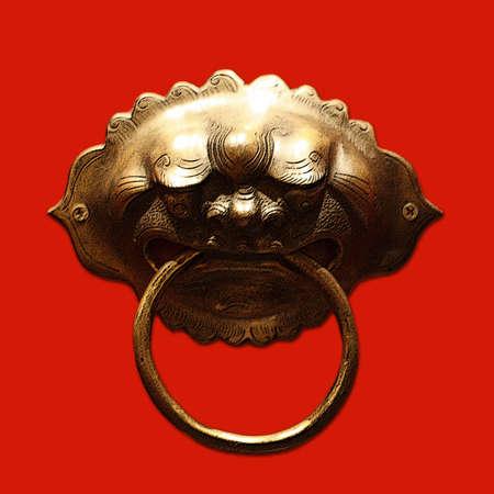 Chinese Door Handle (Lion Head) Stock Photo - 3340270