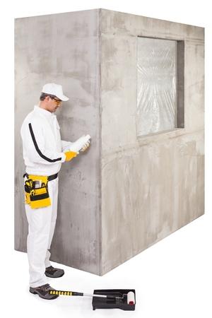 primer: Worker checking the primer