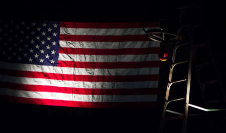 American flag with speedbag