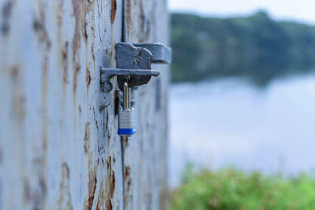 Locked industrial door