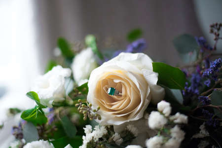 Ring hidden in a rose