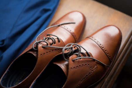 Dress shoes and blazer