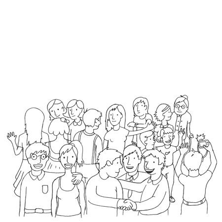 peoples: doodle peoples