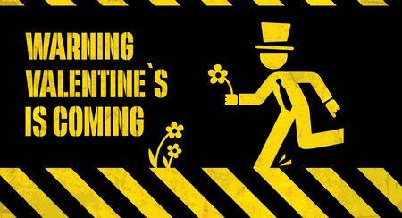 valentine warning Illustration
