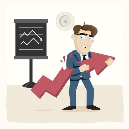 economic: Economic Crisis Illustration