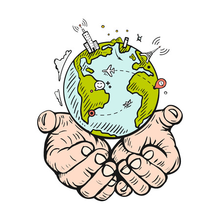 Holding Hands Earth