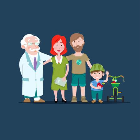 Family Health Illustration