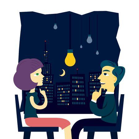 Idea at night Illustration