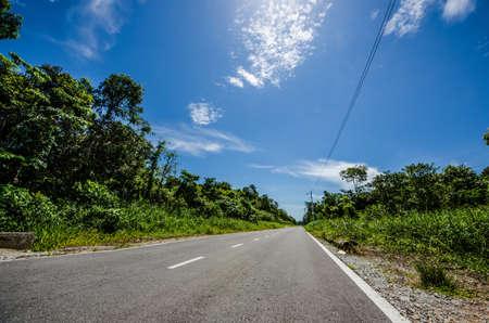 empty road: An empty road