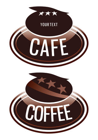 logo design for the coffee shop that sells Vector