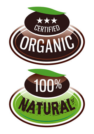 label organic and natural products