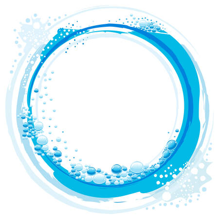 abstract water wave with small bubbles Stock Vector - 8845285