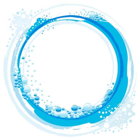 fresh water splash: Wasser abstrakt Wave mit kleinen Blasen