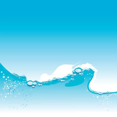 Wasser abstrakt vektor Wave mit kleinen Blasen Illustration