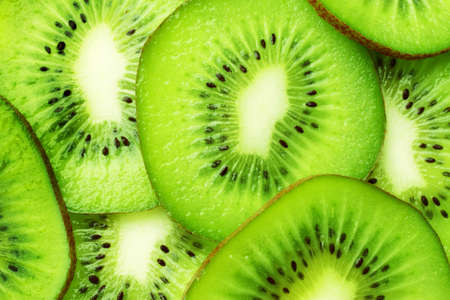 green kiwi slices wallpaper photo