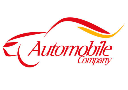 white car: logo speciale per car company sullo sfondo