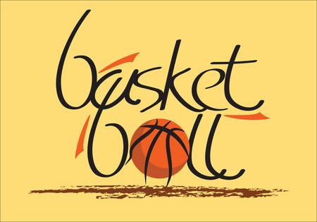 Ready made basketball vector writing/ special font